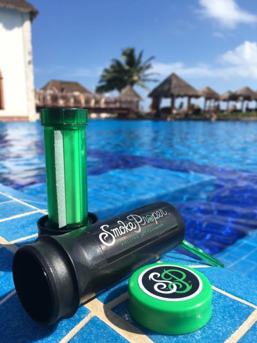 Sitting by the pool in Mexico | Smoke Proper Rolling Accessories