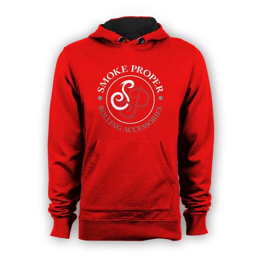 Red hoodie white/red logo   Smoke Proper Rolling Accessories