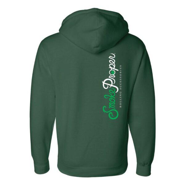 Forest Green - Smoke Proper Hoodie Sprinkle Design (Back)