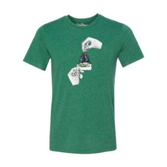 Forest Green - Smoke Proper T-shirt Sprinkle Design (Front)