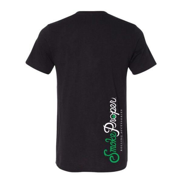 Black - Smoke Proper T-shirt Cabin Fever Design (Back)