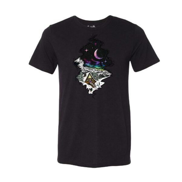 Black - Smoke Proper T-shirt Cabin Fever Design (Front)