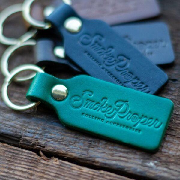 Black Leather Key Chain by Smoke Proper