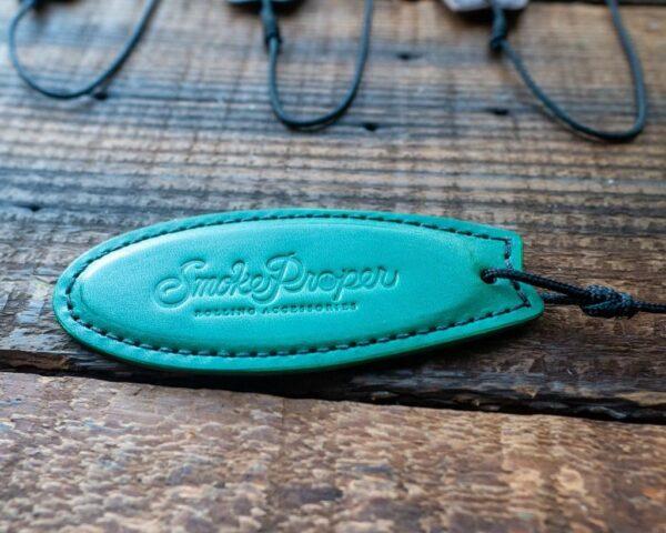 Green Leather Surf Board by Smoke Proper